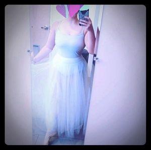 White Romantic Tutu Skirt Adult Dance Ballet